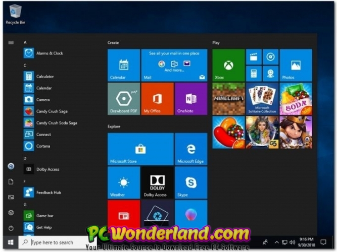Windows 10 X64 RS5 October 2018 Free Download - PC Wonderland