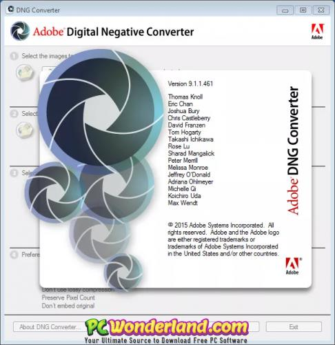 Adobe DNG Converter 11 Windows + macOS Free Download - PC