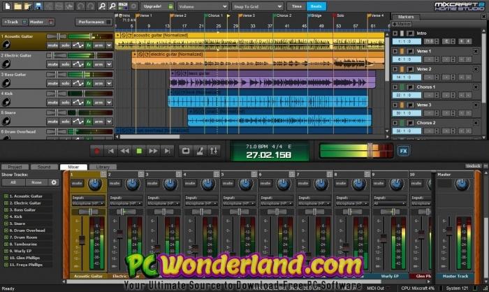 Acoustica Mixcraft Pro Studio 8 Build 415 Free Download - PC Wonderland