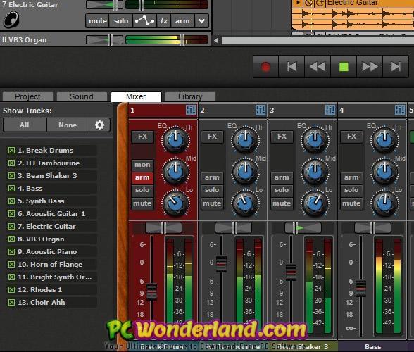 Acoustica Mixcraft Pro Studio 8 Portable Free Download - PC Wonderland