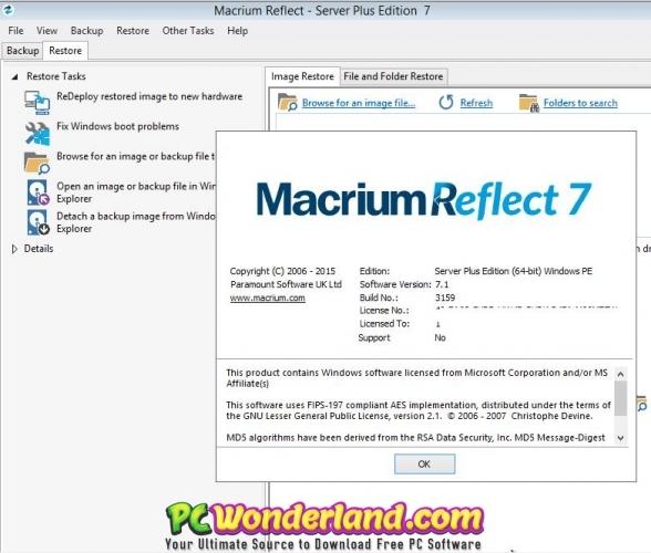 Macrium Reflect 7 Server Plus Free Download - PC Wonderland