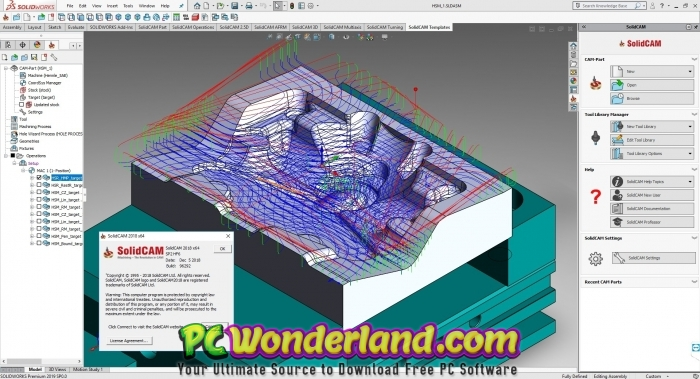 SolidCAM 2018 SP2 HF6 for SolidWorks 2012-2019 Free Download