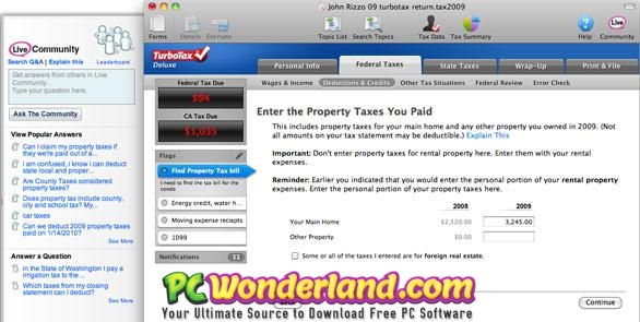 Intuit TurboTax Home And Business 2018 Free Download - PC Wonderland