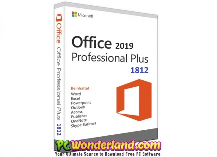 Office 2019 Professional Plus 1812 Free Download - PC Wonderland