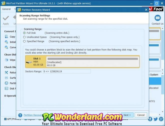 MiniTool Partition Wizard Technician 11 WinPE ISO Free