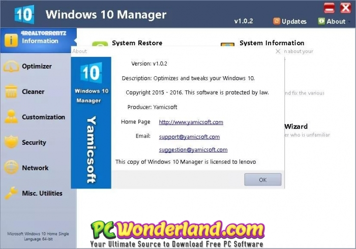 Windows 10 Manager 3 0 1 with Portable Free Download - PC Wonderland