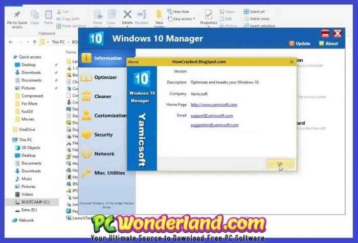 Windows 10 Manager 3 0 1 with Portable Free Download - PC