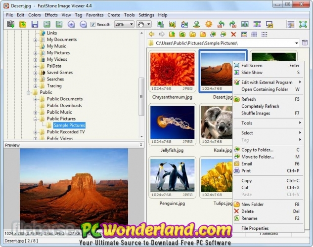 FastStone Image Viewer 7 Corporate Free Download - PC Wonderland