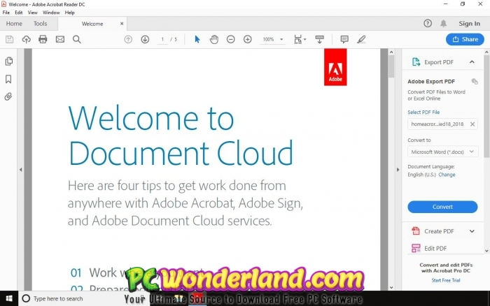 Adobe Acrobat Pro DC 2019 010 20099 Free Download - PC Wonderland