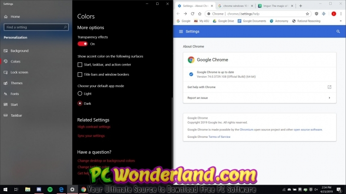 Google Chrome 74 0 3729 108 Free Download - PC Wonderland