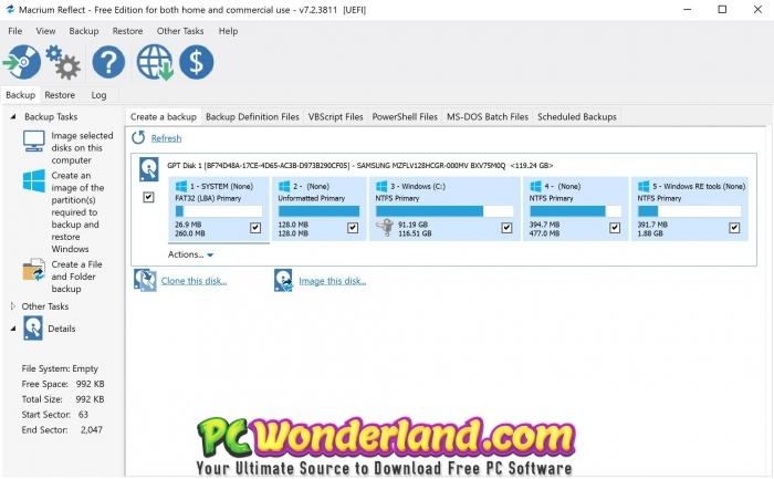 Macrium Reflect 7 Free Download - PC Wonderland