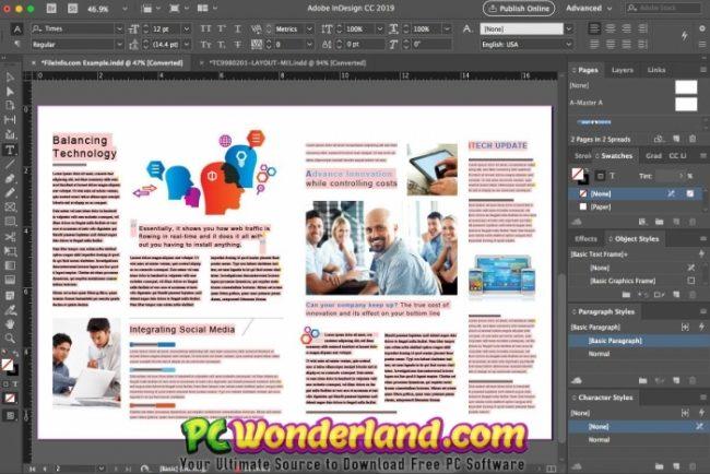adobe indesign cc 2019 free download  pc wonderland