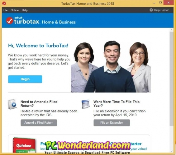 Intuit TurboTax Home And Business 2019 Free Download